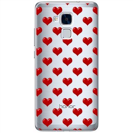 Etui na Huawei Honor 7 Lite - Czerwone serduszka.