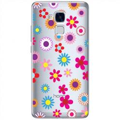 Etui na Huawei Honor 7 Lite - Kolorowe stokrotki.