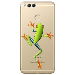 Etui na Huawei Honor 7X - Zielona żabka.