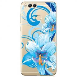 Etui na Huawei Honor 7X - Niebieski kwiat północy.