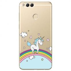 Etui na Huawei Honor 7X - Jednorożec na tęczy.