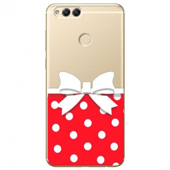 Etui na Huawei Honor 7X - Gustowna kokardka.