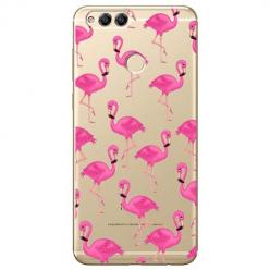 Etui na Huawei Honor 7X - Różowe flamingi.