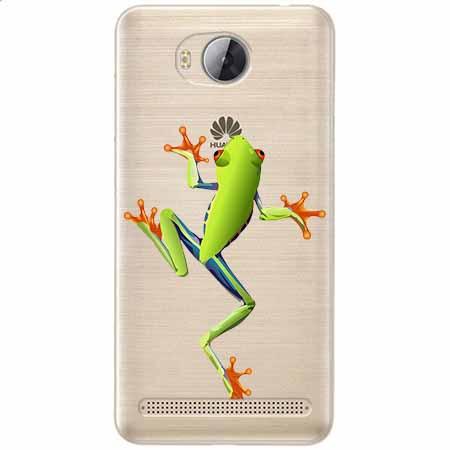 Etui na Huawei Y3 II - Zielona żabka.