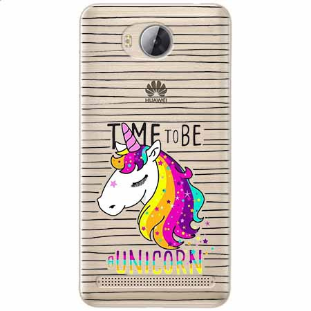 Etui na Huawei Y3 II - Time to be unicorn - Jednorożec.