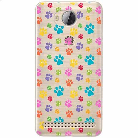 Etui na Huawei Y3 II - Kolorowe psie łapki.