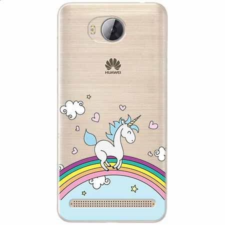 Etui na Huawei Y3 II - Jednorożec na tęczy.