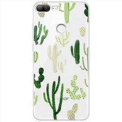 Etui na Huawei Honor 9 Lite - Kaktusowy ogród.