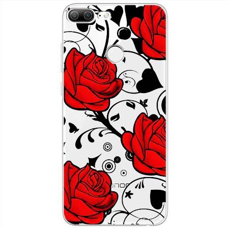 Etui na Huawei Honor 9 Lite - Czerwone róże.