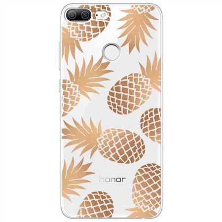 Etui na Huawei Honor 9 Lite - Złote ananasy.