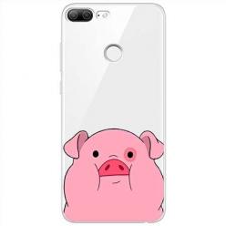 Etui na Huawei Honor 9 Lite - Słodka różowa świnka.