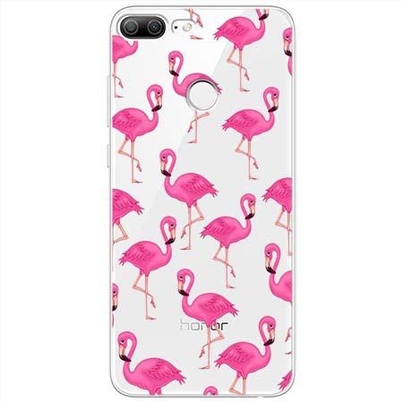 Etui na Huawei Honor 9 Lite - Różowe flamingi.
