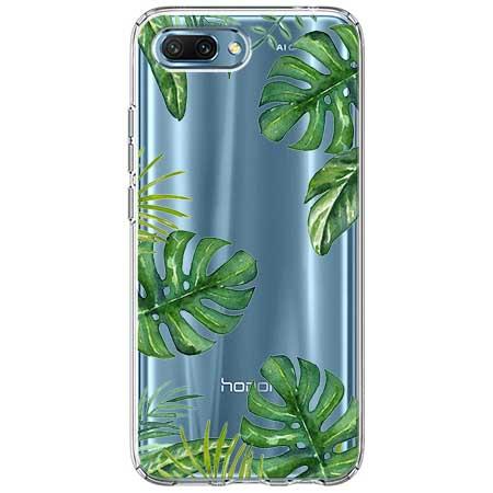 Etui na Huawei Honor 10 - Egzotyczna roślina Monstera.