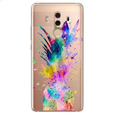 Etui na Huawei Mate 10 Pro - Watercolor ananasowa eksplozja.