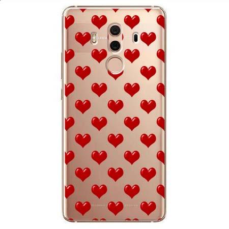 Etui na Huawei Mate 10 Pro - Czerwone serduszka.