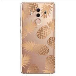 Etui na Huawei Mate 10 Pro - Złote ananasy.