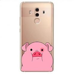 Etui na Huawei Mate 10 Pro - Słodka różowa świnka.
