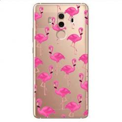 Etui na Huawei Mate 10 Pro - Różowe flamingi.