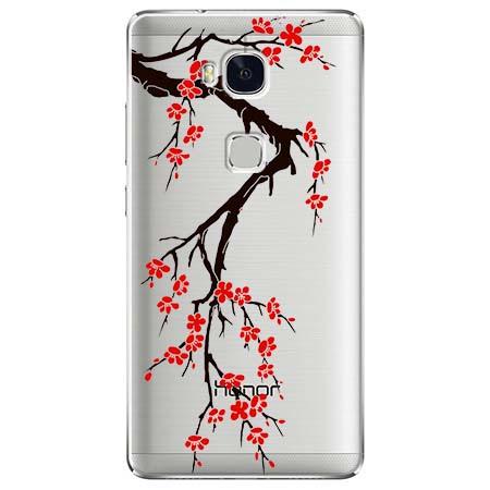 Etui na Huawei Honor 5X - Krzew kwitnącej wiśni.