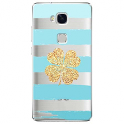 Etui na Huawei Honor 5X - Złota czterolistna koniczyna.