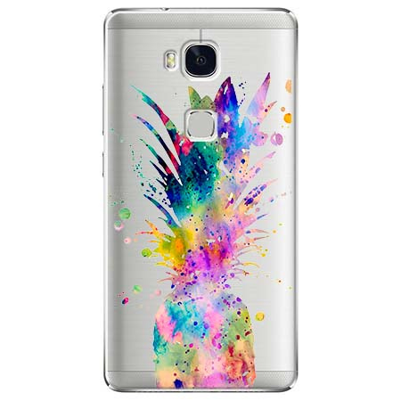 Etui na Huawei Honor 5X - Watercolor ananasowa eksplozja.