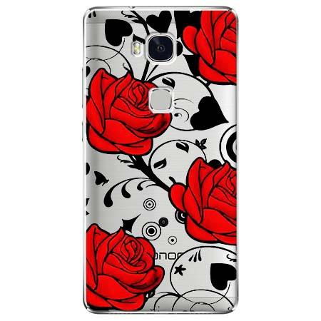 Etui na Huawei Honor 5X - Czerwone róże.