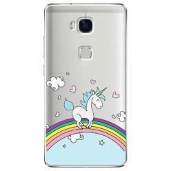 Etui na Huawei Honor 5X - Jednorożec na tęczy.