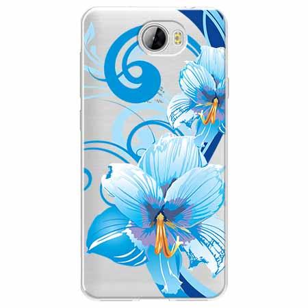 Etui na Huawei Y5 II - Niebieski kwiat północy.