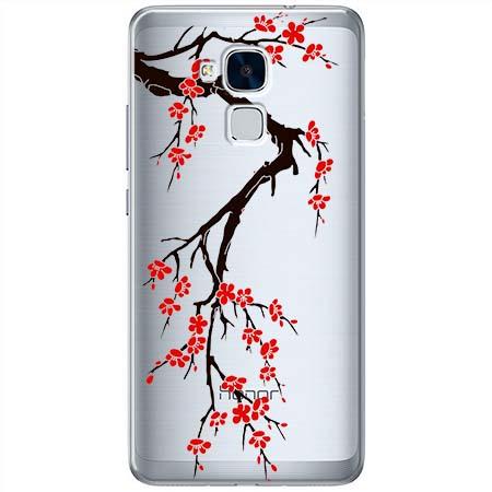 Etui na Huawei Honor 5C - Krzew kwitnącej wiśni.