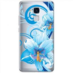 Etui na Huawei Honor 5C - Niebieski kwiat północy.