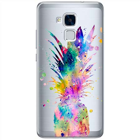 Etui na Huawei Honor 5C - Watercolor ananasowa eksplozja.