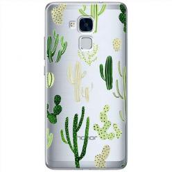 Etui na Huawei Honor 5C - Kaktusowy ogród.