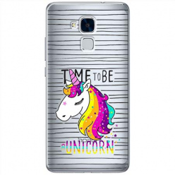 Etui na Huawei Honor 5C - Time to be unicorn - Jednorożec.