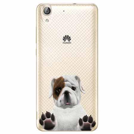 Etui na Huawei Y6 II - Słodki szczeniaczek.