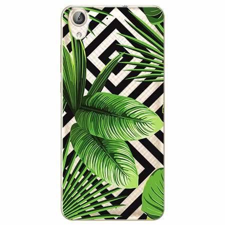 Etui na Huawei Y6 II - Egzotyczne liście bananowca.