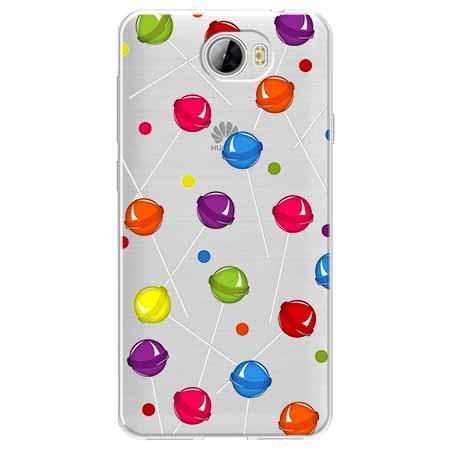Etui na Huawei Y6 II Compact - Kolorowe lizaki.