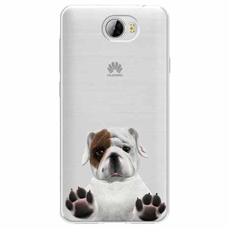 Etui na Huawei Y6 II Compact - Słodki szczeniaczek.