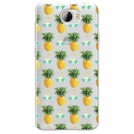 Etui na Huawei Y6 II Compact - Ananasowe szaleństwo.