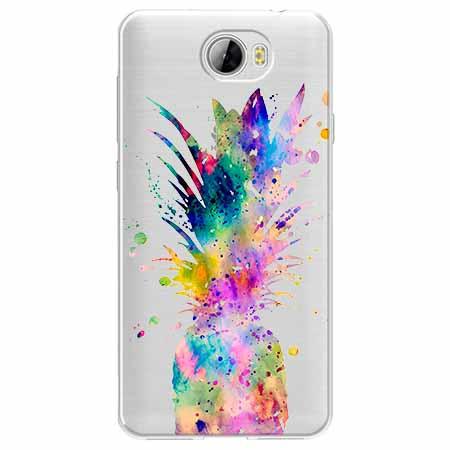 Etui na Huawei Y6 II Compact - Watercolor ananasowa eksplozja.