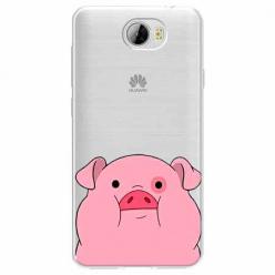 Etui na Huawei Y6 II Compact - Słodka różowa świnka.