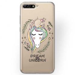 Etui na Huawei Y7 Prime 2018 - Dream unicorn - Jednorożec.