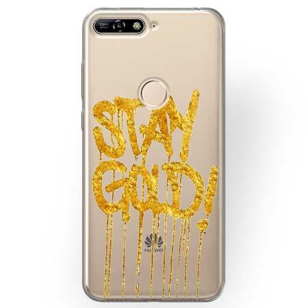 Etui na Huawei Y7 Prime 2018 - Stay Gold.