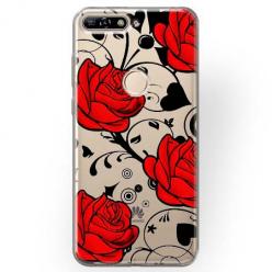 Etui na Huawei Y7 Prime 2018 - Czerwone róże.