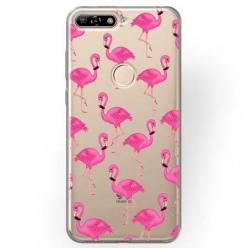 Etui na Huawei Y7 Prime 2018 - Różowe flamingi.