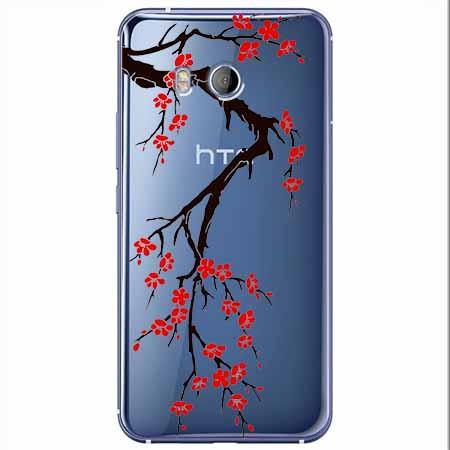 Etui na HTC U11 - Krzew kwitnącej wiśni.