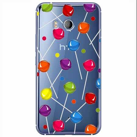 Etui na HTC U11 - Kolorowe lizaki.