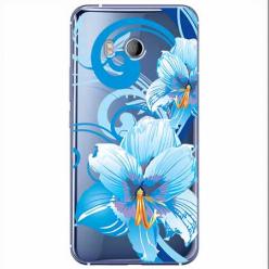 Etui na HTC U11 - Niebieski kwiat północy.