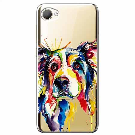 Etui na HTC Desire 12 - Watercolor pies.