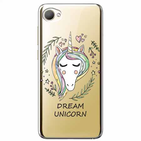 Etui na HTC Desire 12 - Dream unicorn - Jednorożec.