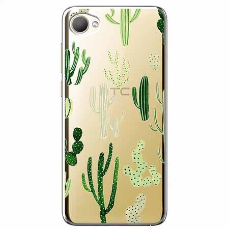 Etui na HTC Desire 12 - Kaktusowy ogród.